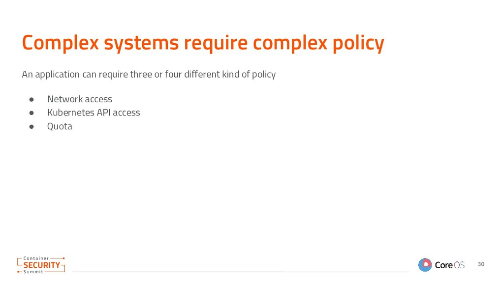Complex systems require complex policy An appli...