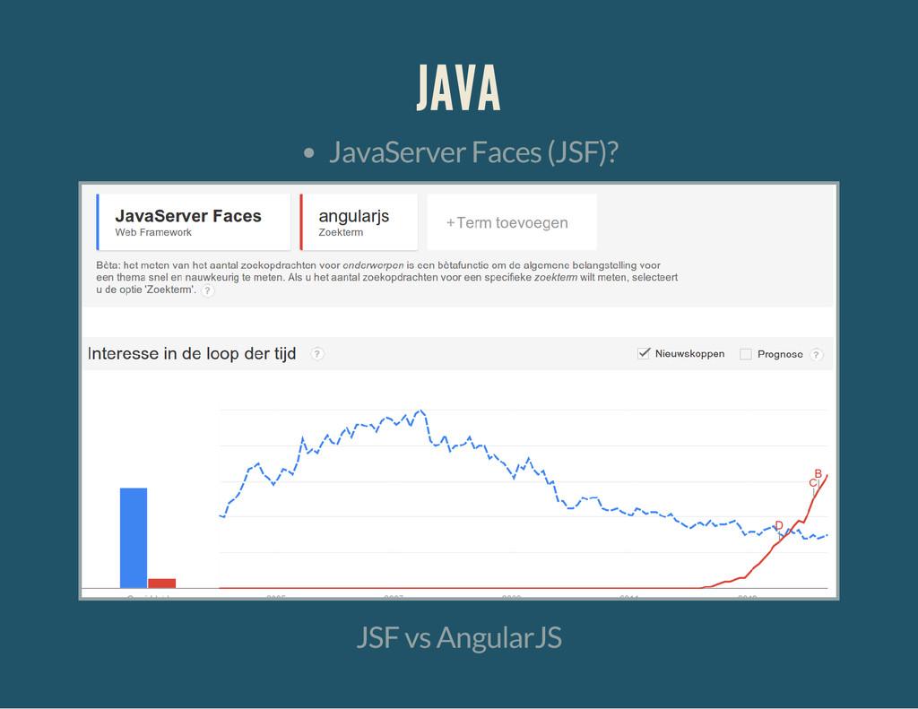 JAVA JavaServer Faces (JSF)? JSF vs AngularJS