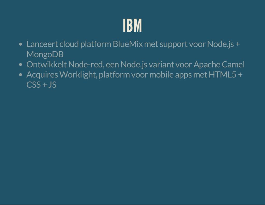 IBM Lanceert cloud platform BlueMix met support...