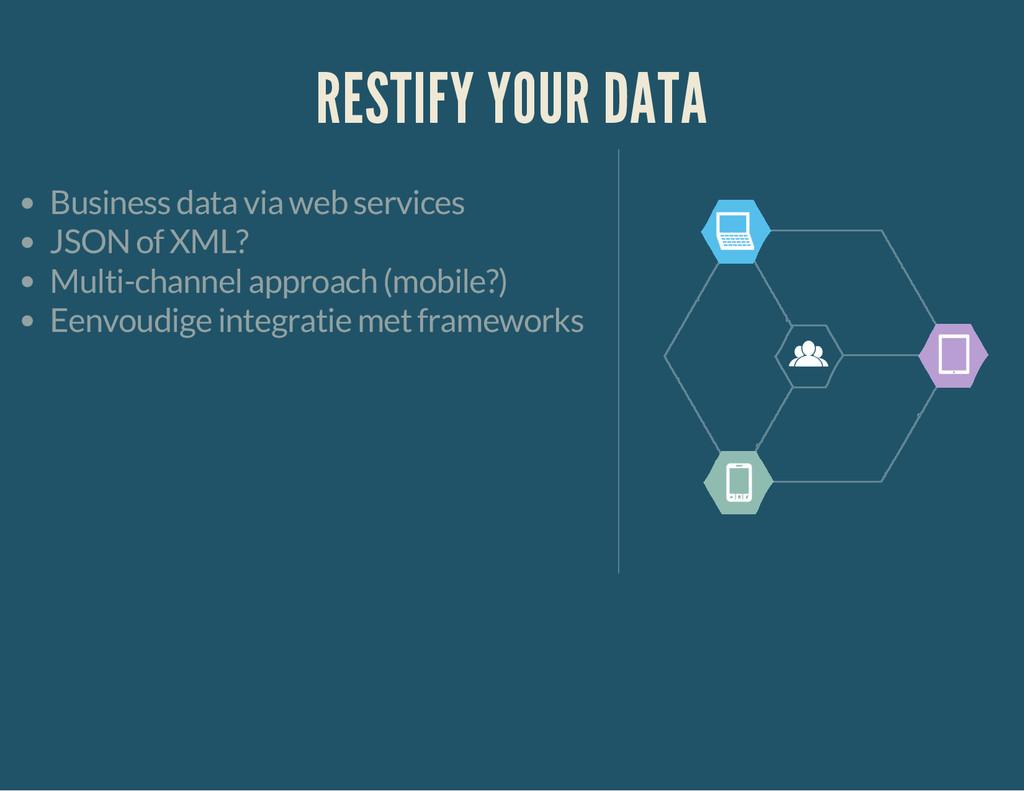 RESTIFY YOUR DATA Business data via web service...