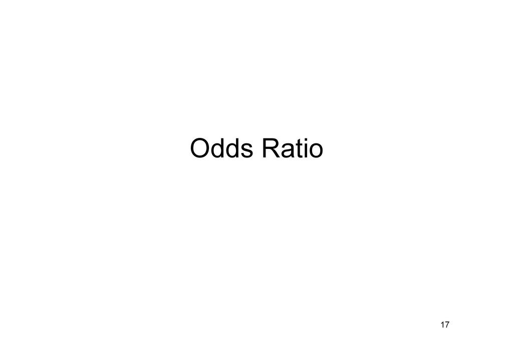 Odds Ratio 17