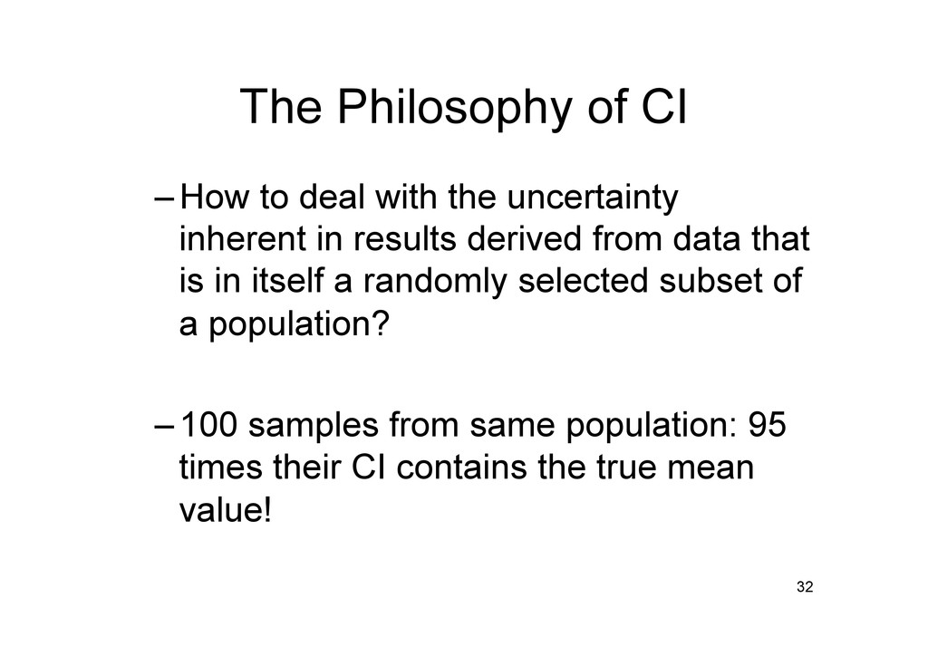 The Philosophy of CI –How to deal with the unc...
