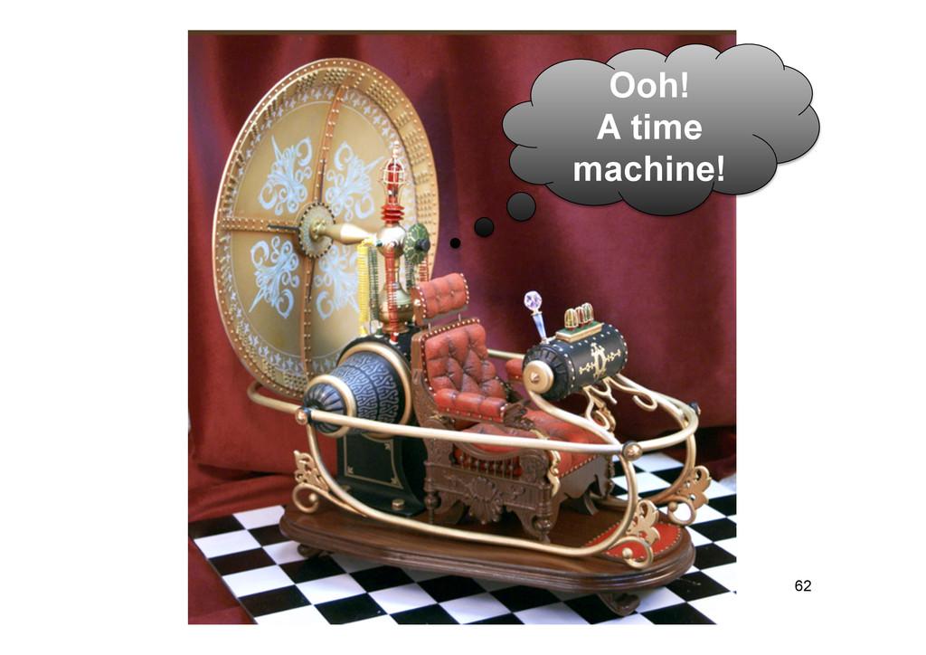 62 Ooh! A time machine!