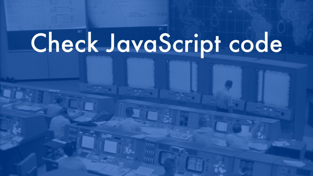 Check JavaScript code
