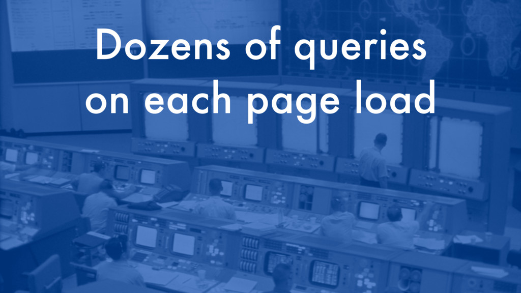 Dozens of queries on each page load