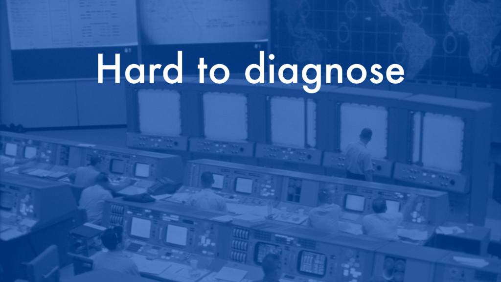 Hard to diagnose