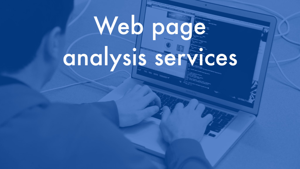 Web page analysis services