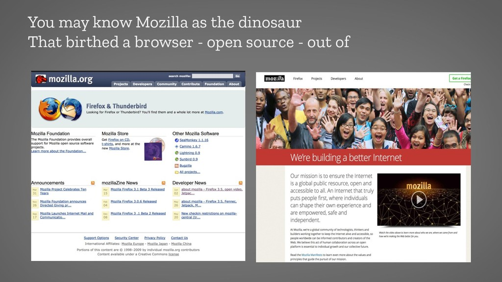 You may know Mozilla as the dinosaur That birth...