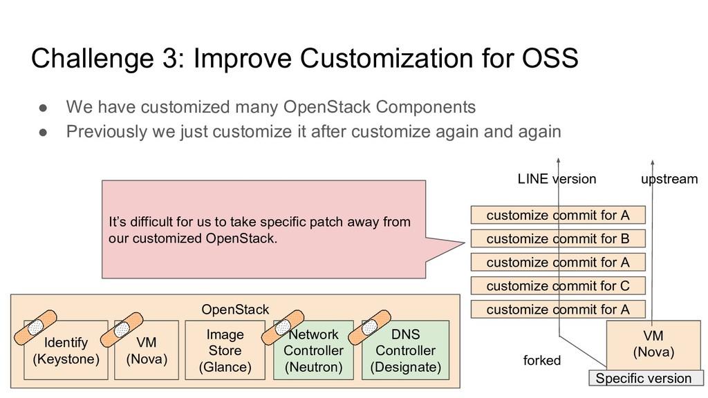 Challenge 3: Improve Customization for OSS ● We...