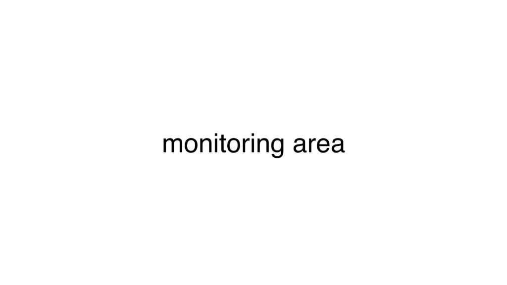 monitoring area
