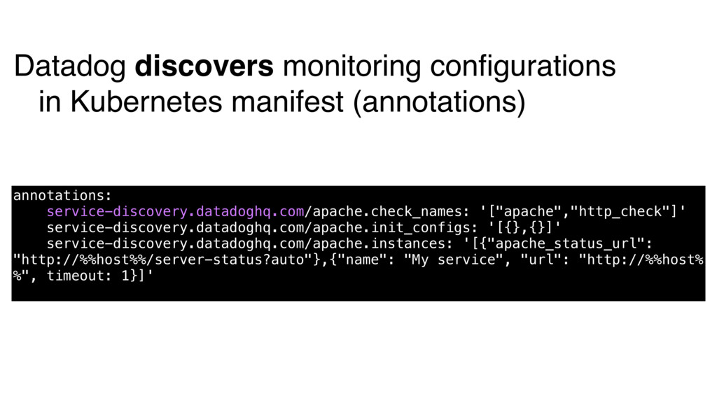 Datadog discovers monitoring configurations in K...