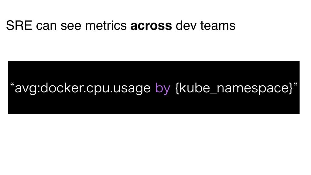 SRE can see metrics across dev teams lBWHEPDLF...