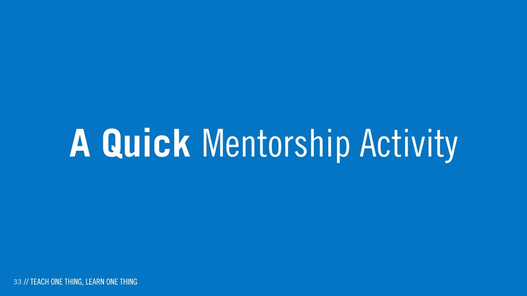 33 A Quick Mentorship Activity // TEACH ONE THI...