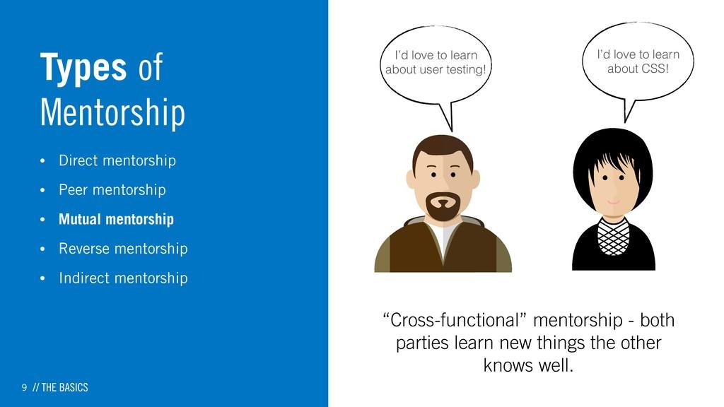 9 Types of Mentorship • Direct mentorship • Pee...