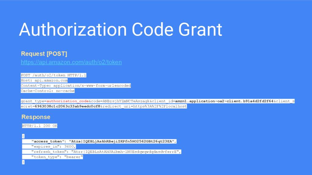 Authorization Code Grant https://api.amazon.com...