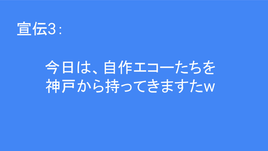 今日は、自作エコーたちを 神戸から持ってきますたw 宣伝3: