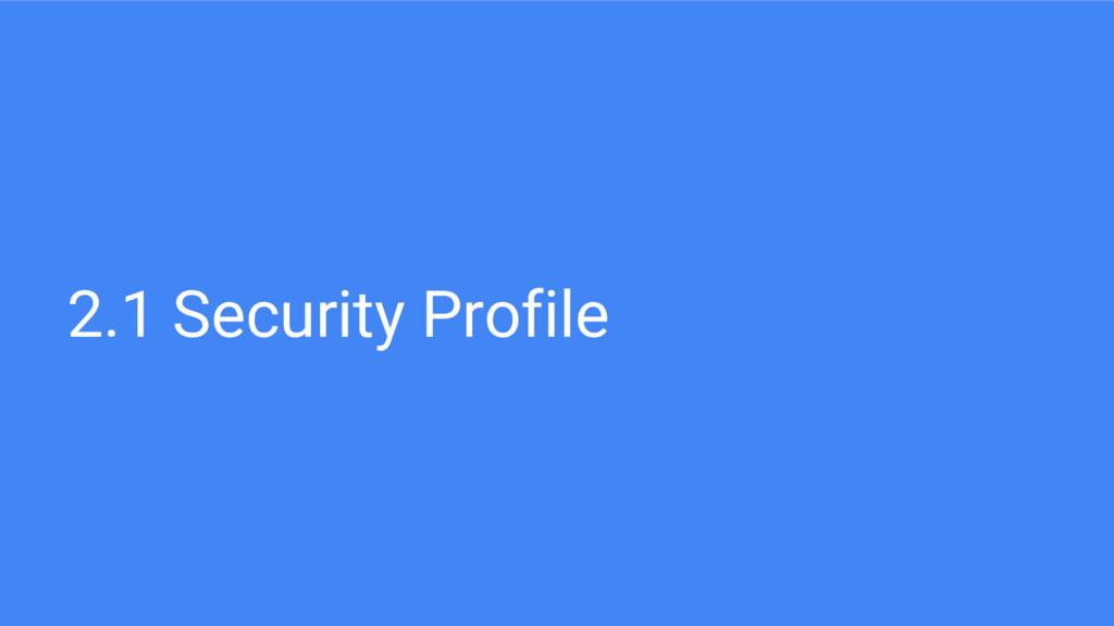 2.1 Security Profile