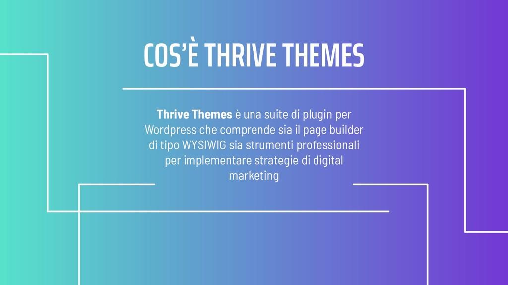Thrive Themes è una suite di plugin per Wordpre...