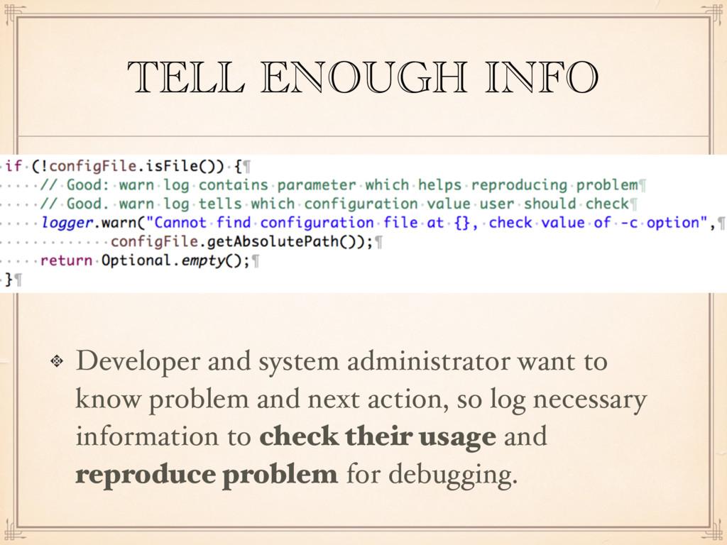TELL ENOUGH INFO Developer and system administr...