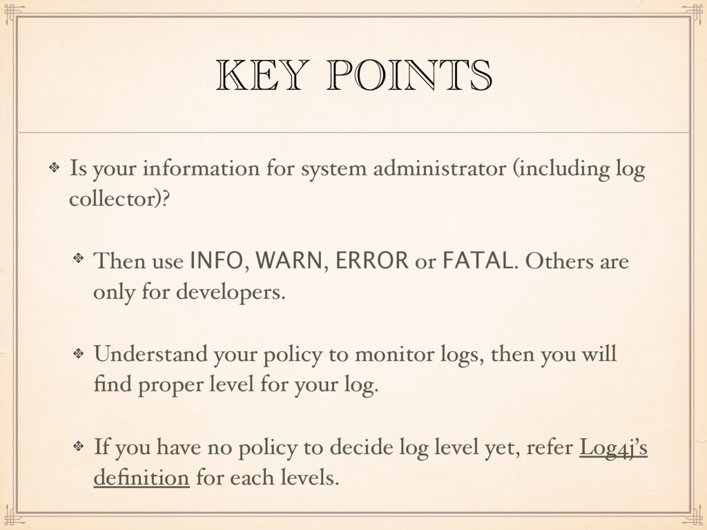 KEY POINTS Is your information for system admin...