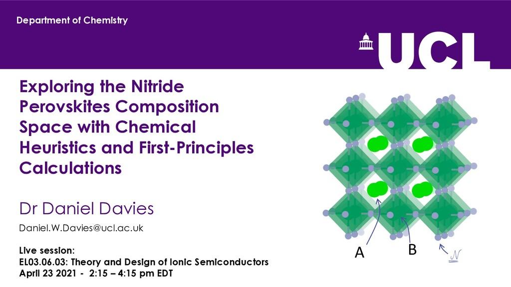Exploring the Nitride Perovskites Composition S...