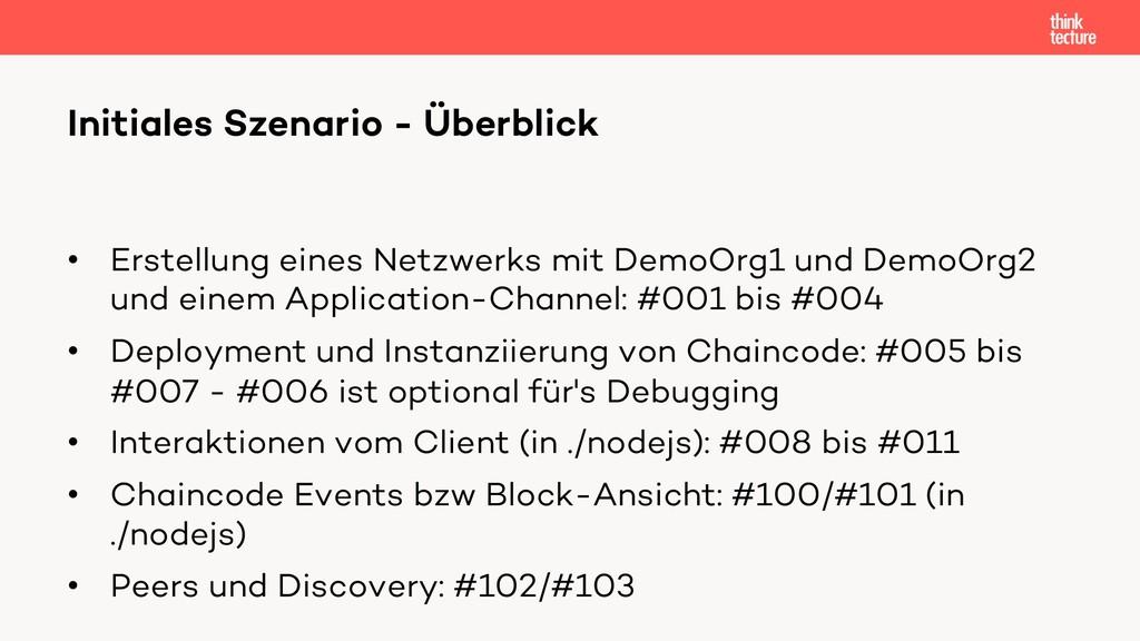 • Erstellung eines Netzwerks mit DemoOrg1 und D...