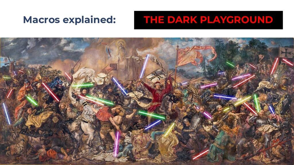 Macros explained: THE DARK PLAYGROUND