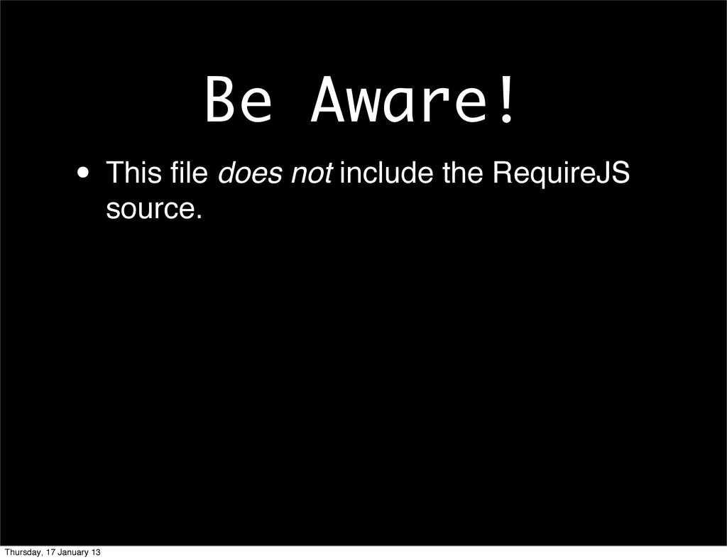 Be Aware! • This file does not include the Requi...