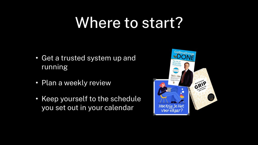 Where to start? • Get a trusted system up and r...