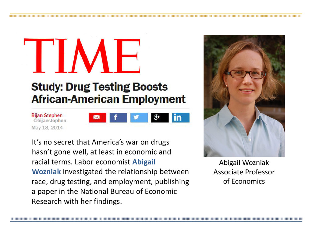 Abigail Wozniak Associate Professor of Economic...