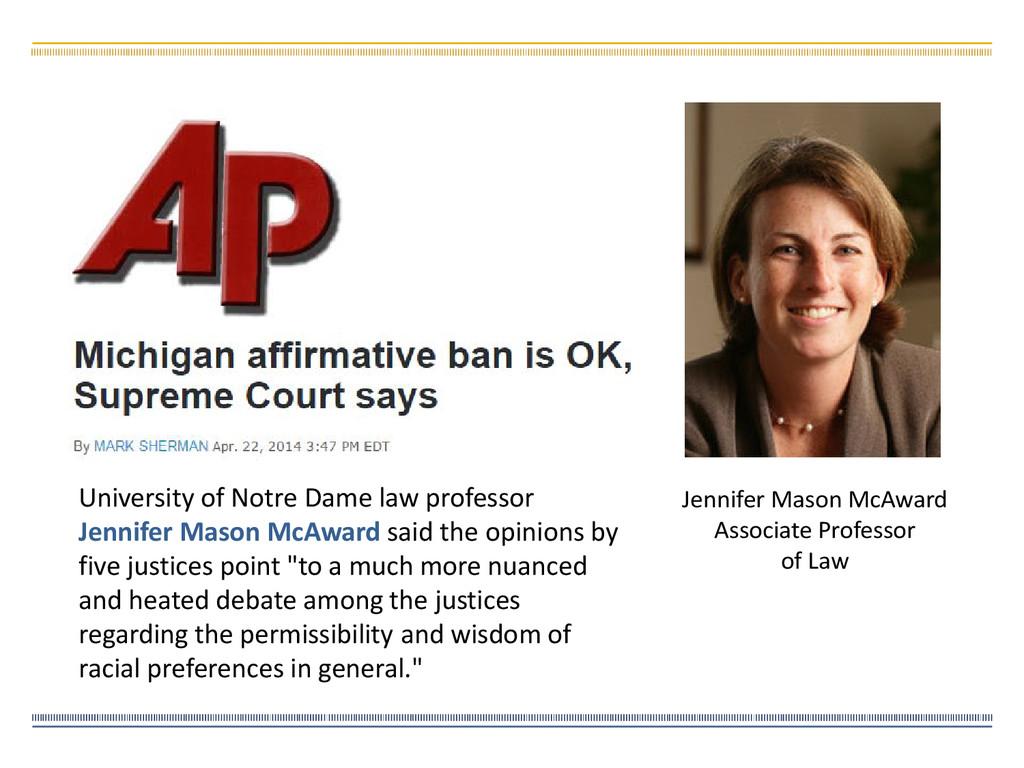 University of Notre Dame law professor Jennifer...