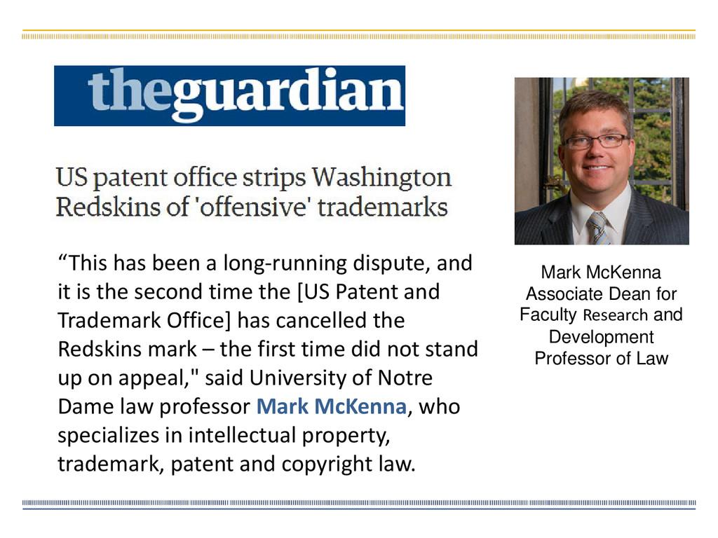 Mark McKenna Associate Dean for Faculty Researc...