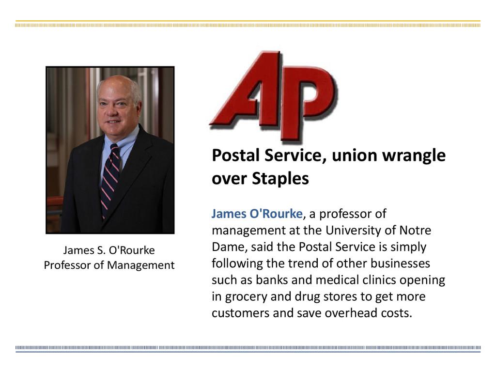 James S. O'Rourke Professor of Management James...