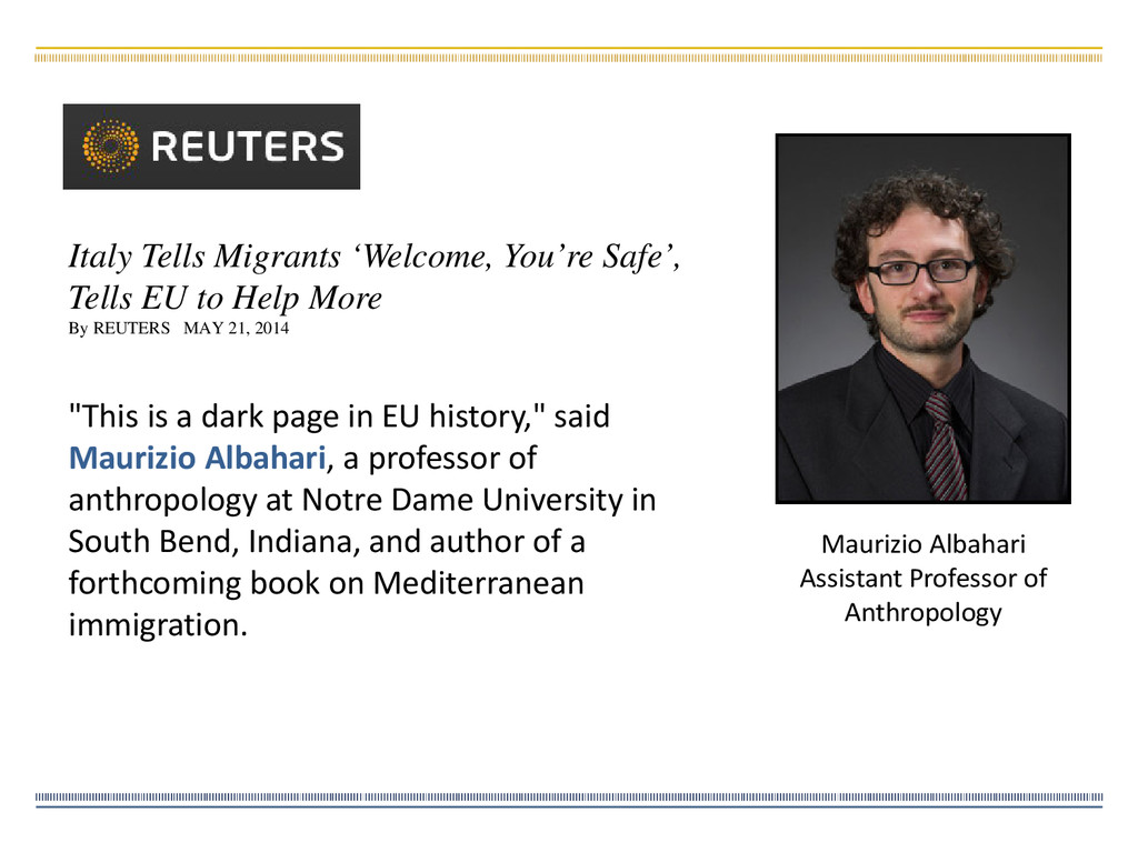 """""""This is a dark page in EU history,"""" said Mauri..."""