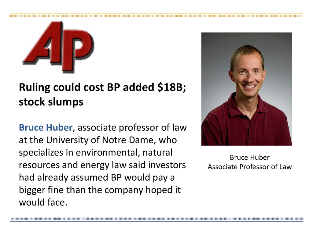 Bruce Huber, associate professor of law at the ...