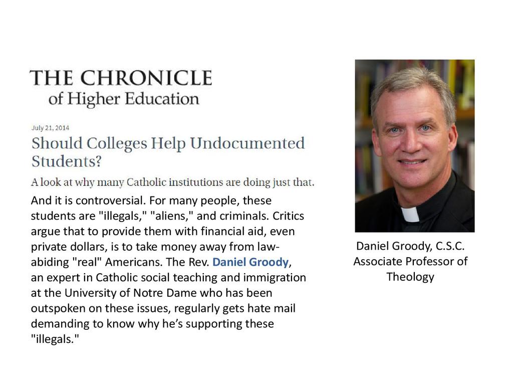 Daniel Groody, C.S.C. Associate Professor of Th...