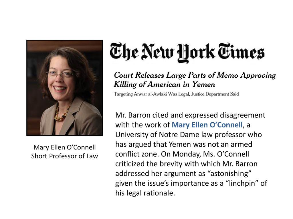 Mary Ellen O'Connell Short Professor of Law Mr....