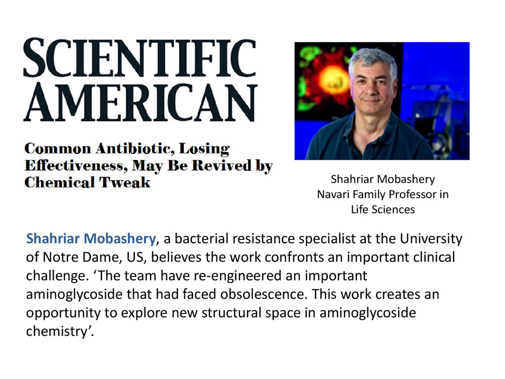 Shahriar Mobashery, a bacterial resistance spec...