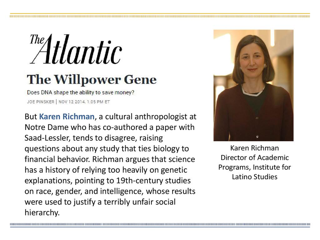 Karen Richman Director of Academic Programs, In...