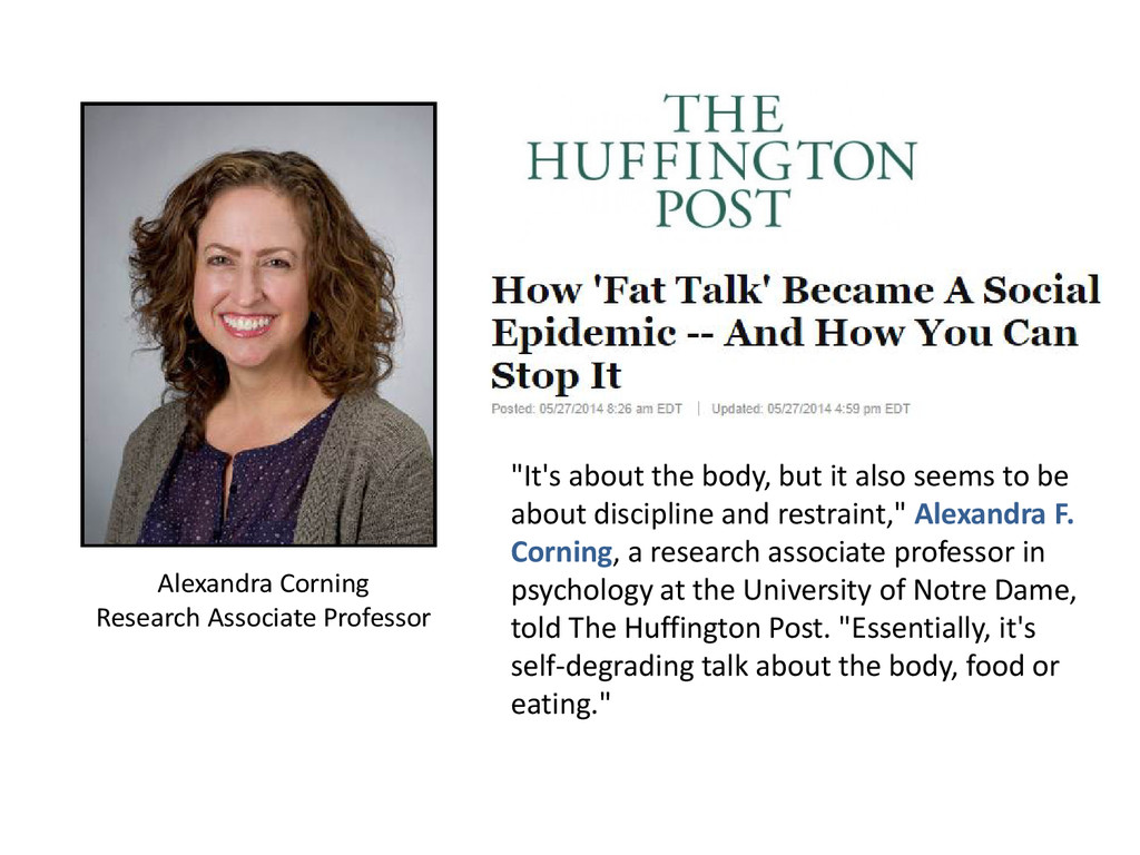 """""""It's about the body, but it also seems to be a..."""