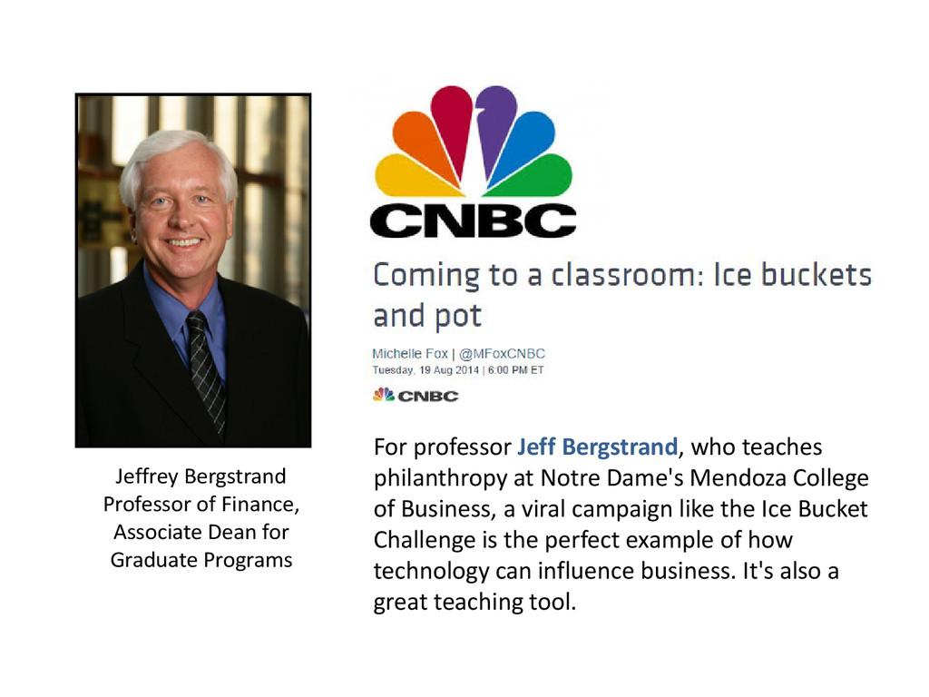 Jeffrey Bergstrand Professor of Finance, Associ...