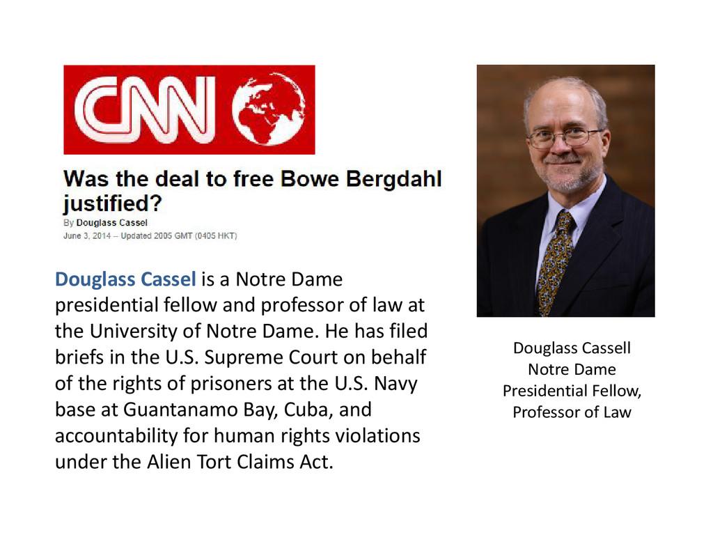 Douglass Cassell Notre Dame Presidential Fellow...