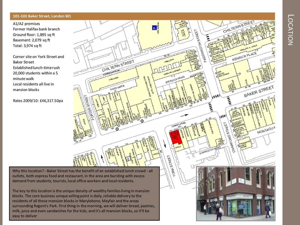 LOCATION 101-103 Baker Street, London W1 A1/A2 ...