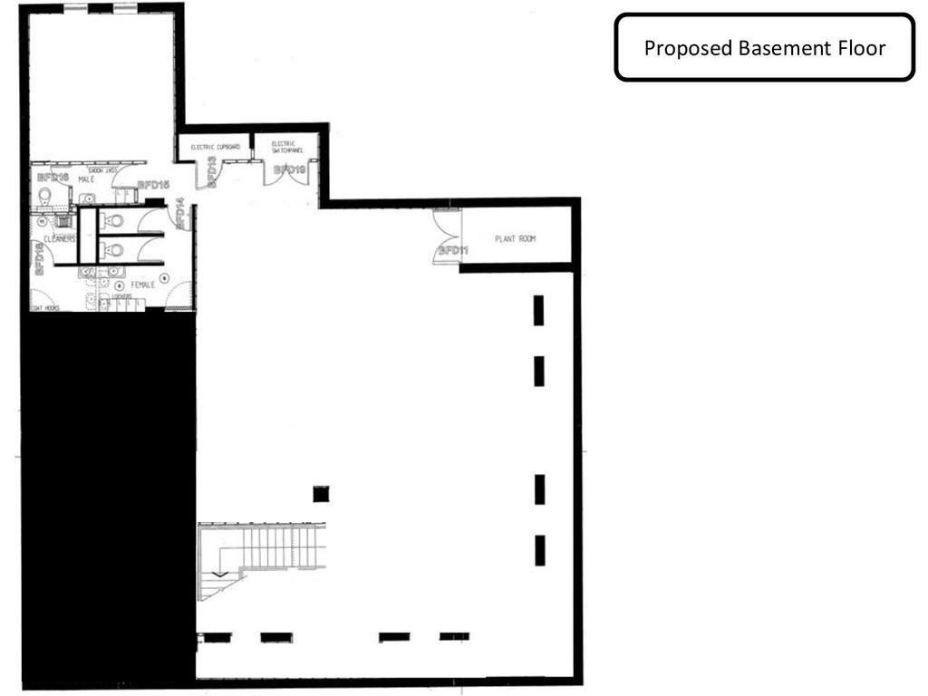Proposed Basement Floor