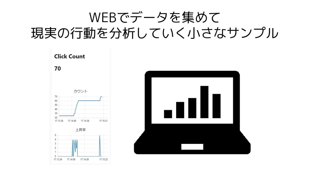 WEBでデータを集めて 現実の行動を分析していく小さなサンプル