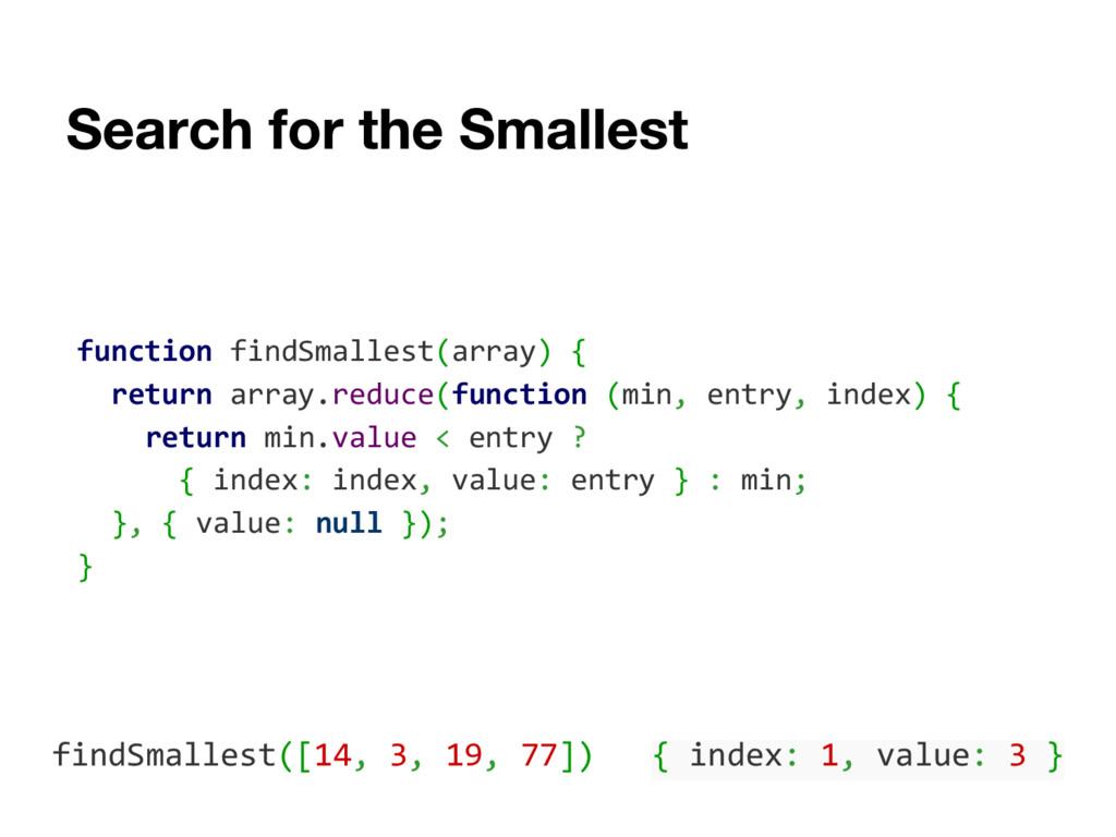 function findSmallest(array) { return array.red...