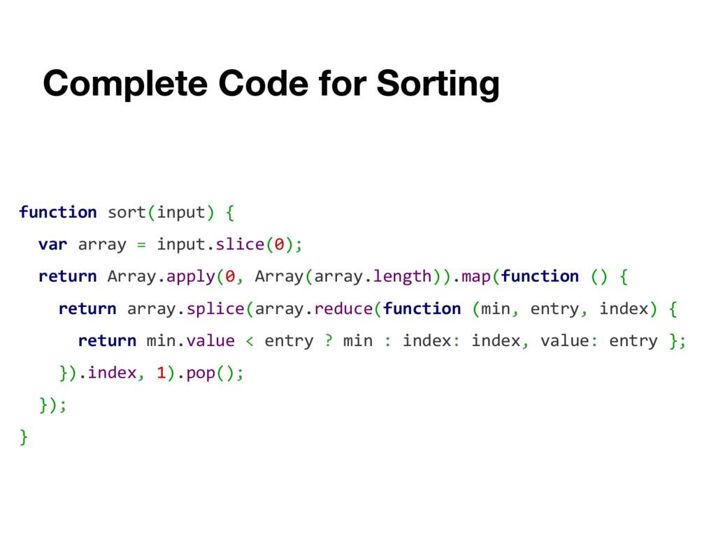 function sort(input) { var array = input.slice(...