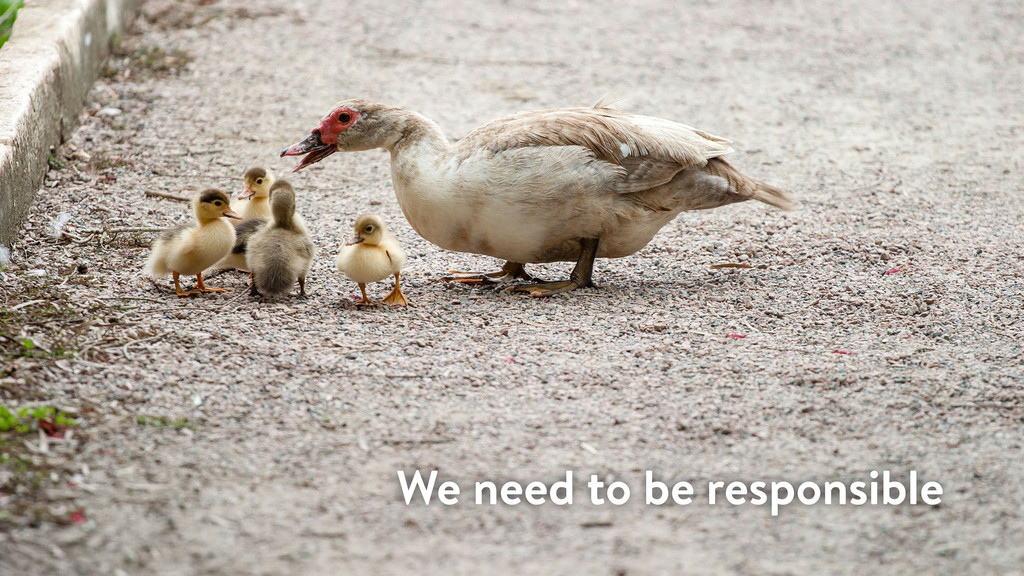 We need to be responsible