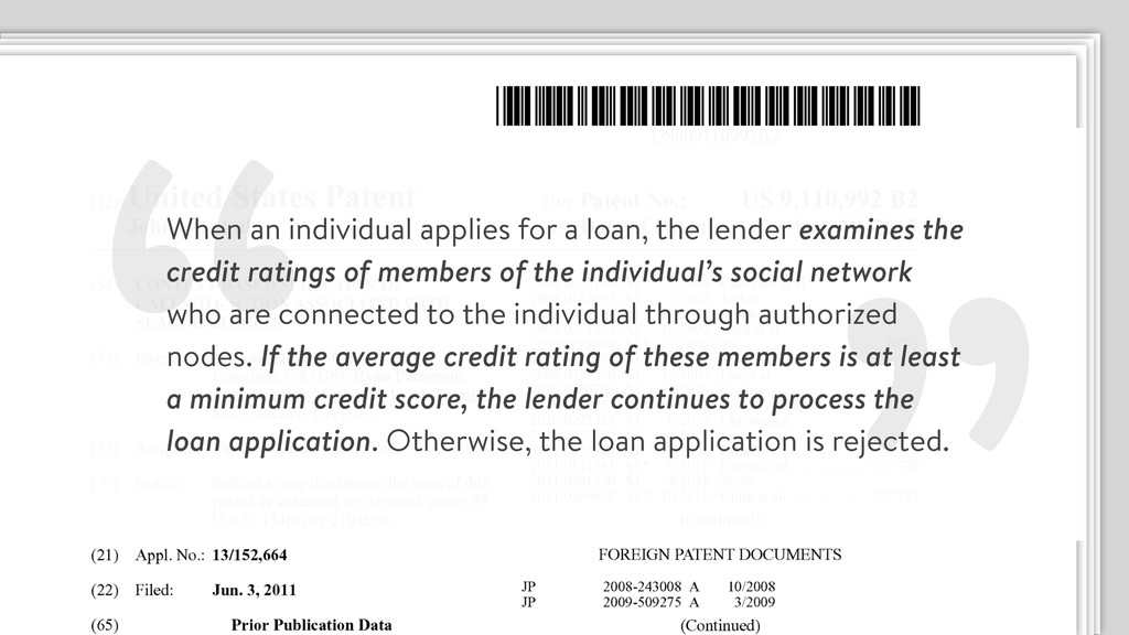 """"""" When an individual applies for a loan, the le..."""