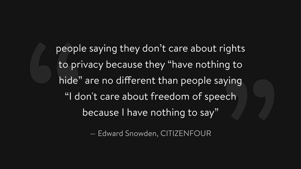 people saying they don't care about rights to p...